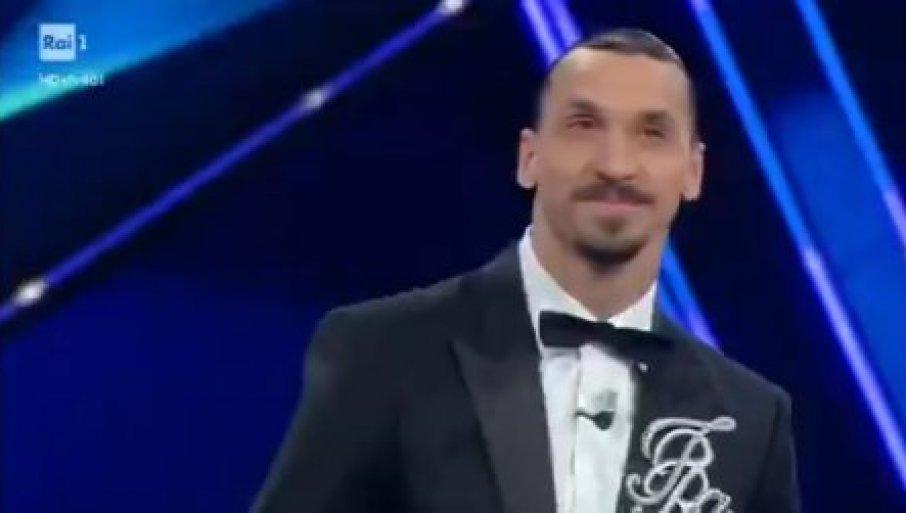 Ibrahimović u svom stilu: Na scenu u San Remu izašao uz taktove pjesme Jutro je